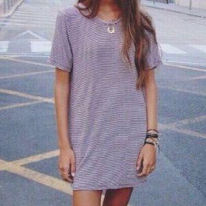 Brandy Melville Striped Luana T-Shirt Dress